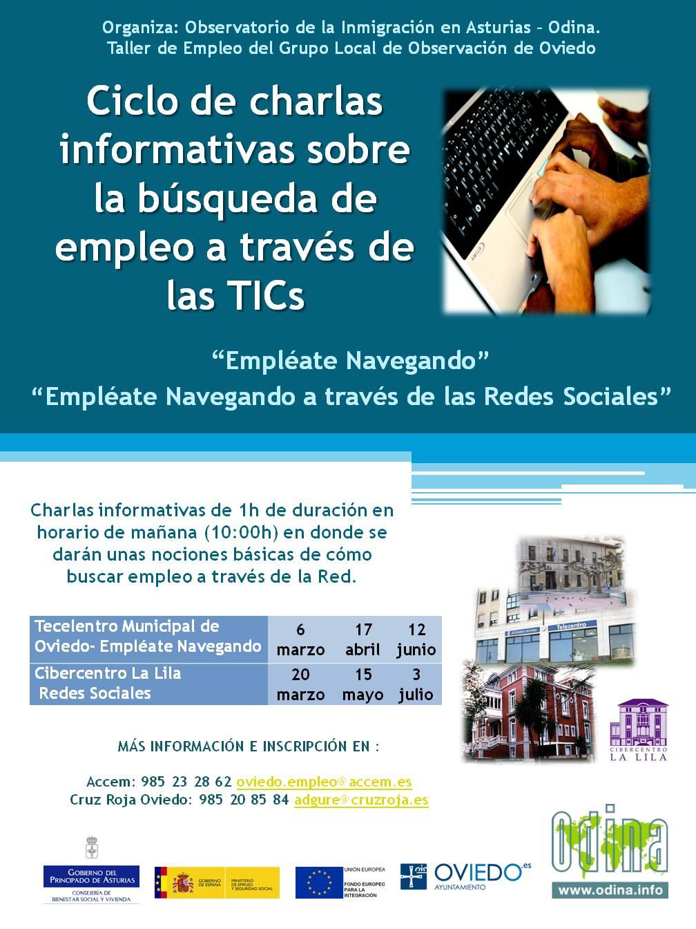 Difusión charlas empleate Oviedo_ primer semestre 2013